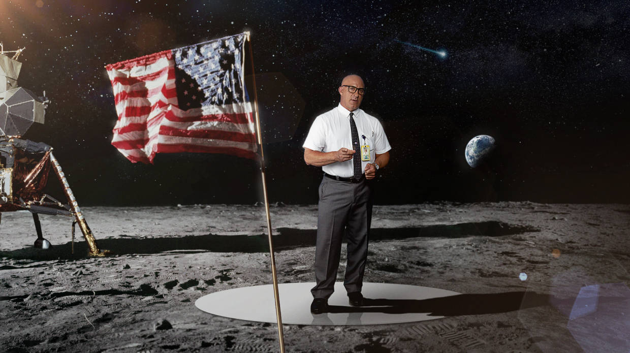 Immersive Mixed Reality: 50th Anniversary of the Moon Landing